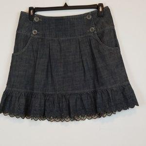 DKNY Jeans ruffled denim skirt size 10